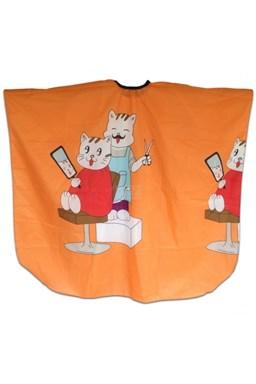 SALON KOMPLET Pláštenka strihací detská MAČKY - oranžová