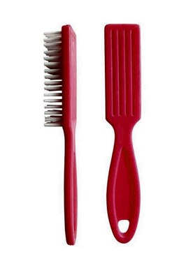 DUKO Kosmetika pomůcky Kartáček na ruce s rukojetí 23x150mm - červený
