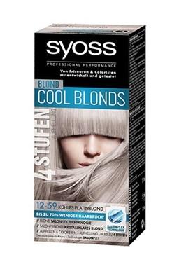 SYOSS 4Levels Cool Blonds 12-59 Chladná platinová blond barva - zesvětlí a obarví