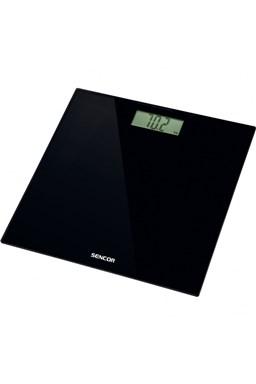 SENCOR SBS 2300BK Black Elegant Glass Scale - osobná váha, čierny sklenený povrch