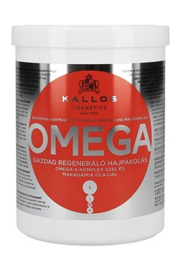 Kallos KJMN Omega Hair Mask 1000ml - maska na lámavé vlasy a rozštiepené končeky