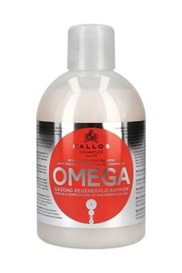 KALLOS KJMN Omega Shampoo 1000ml - šampon na lámavé vlasy a roztřepené konečky