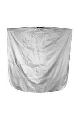 SALON KOMPLET Kadeřnická barvicí pláštěnka z PVC - stříbrná