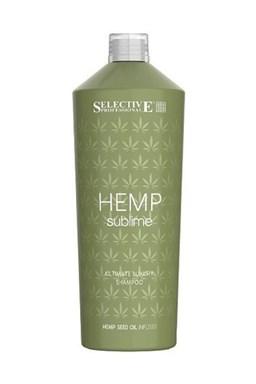 SELECTIVE Hemp Sublime Shampoo 1000ml - šampón s konopným olejom pre suché vlasy