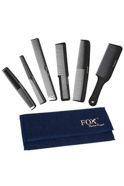 FOX Barber Expert Sada profesionálních hřebenů na vlasy - džínové pouzdro