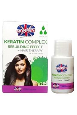 RONNEY Keratin Complex Oil 15ml - olej s keratinem pro slabé a křehké vlasy