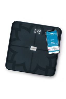 MEDISANA BS 450 BL CONNECT - Analytická digitálna váha do 180kg s Bluetooth - čierna