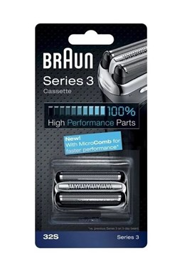 BRAUN Series 3-32S MicroComb Silver - náhradní planžeta pro strojky Braun Series 3 - stříbrná