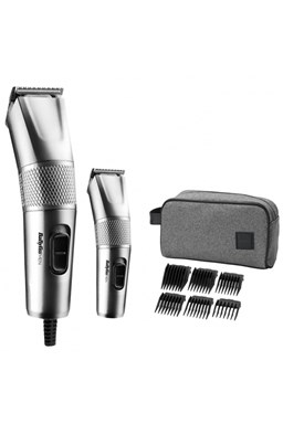 BABYLISS 7755PE Steel Edition Clipper Set - sada dvoch strojčekov na vlasy