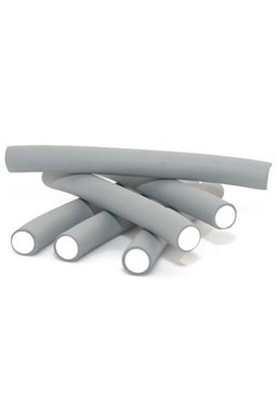 DNA Evolution GREY Flex Rollers 12ks - papiloty na vlasy 18x240mm - šedé