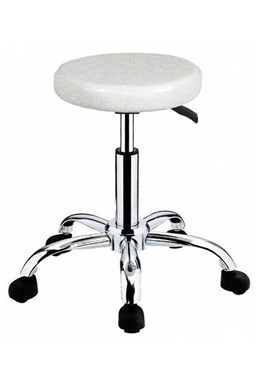 HAIRWAY Nábytok Kadernícky taburet Comfort - koliesková stolička - biela