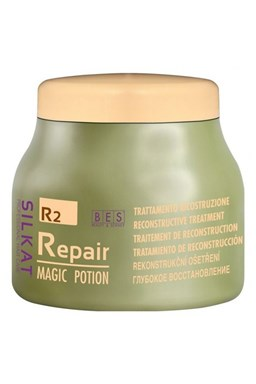 BES Silkat Repair R2 Magic Potion 500ml - Opravná a rekonstrukční kúra pro zničené vlasy