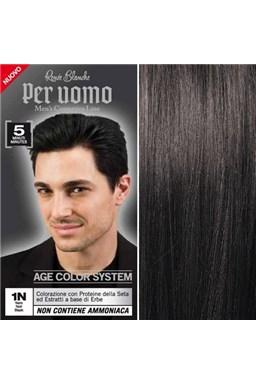 RENEÉ BLANCHE Per Uomo 1N Black - 5ti minutová barva na vlasy pro muže - černá