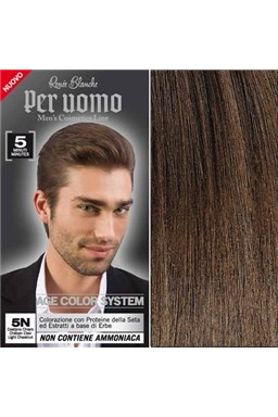RENEÉ BLANCHE Per Uomo 5N Light Chestnut - 5min. barva na vlasy pro muže - světle hnědá