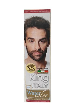 KLÉRAL King Italy Water Color LIGHT BROWN - světle hnědá barva na vlasy pro muže