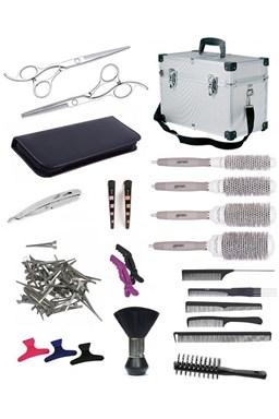SET Alu kufor XUB LEFT Kadernícky set pre učňov - hliníkový kufor s vybavením pre ľavákov