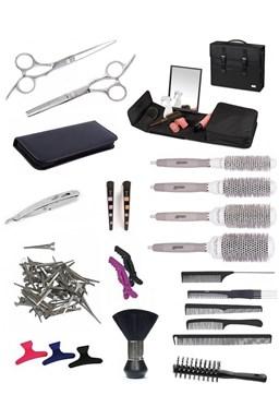 SET Toolcase BK10 Kadernícky set pre učňov - taška so zrkadlom as vybavením pre pravákov