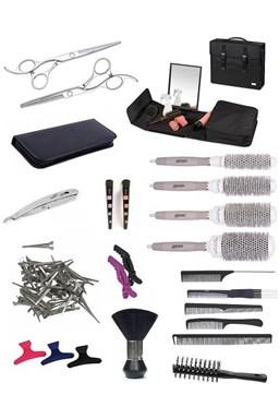 SET Toolcase XUB LEFT Kadernícky set pre učňov - taška so zrkadlom as vybavením pre ľavákov