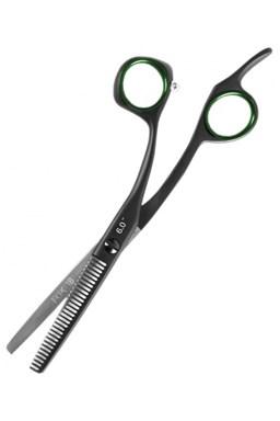 FOX Race 18 Profesionální efilační nůžky s černým teflonovým povrchem - 6' 30zubů