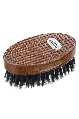 BARBURYS Ray Oválný kartáč pro úpravu vousů a knírů - 10cm
