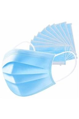 Hygienická rúška 10ks Ochranné jednorazové třívstvé rúška z netkanej textílie