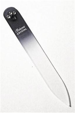 BOHEMIA CRYSTAL Skleněný pilník na nehty Swarovski - 90mm - černý