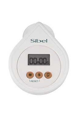 SIBEL Drop Digitálny časovač, minútka s alarmom - biela
