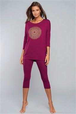 Pyžamo Italian Fashion Mandala r.3/4 sp.3/4 - Výprodej