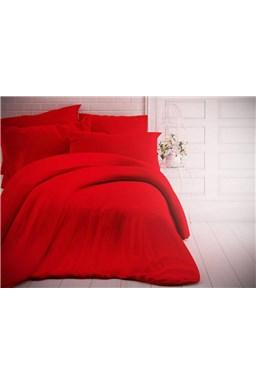 Kvalitex jednofarebné bavlnené obliečky červené