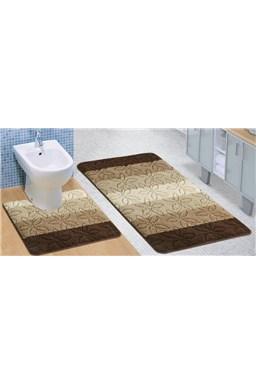 Kvalitex kúpeľňová a WC predložka Helga hnedá